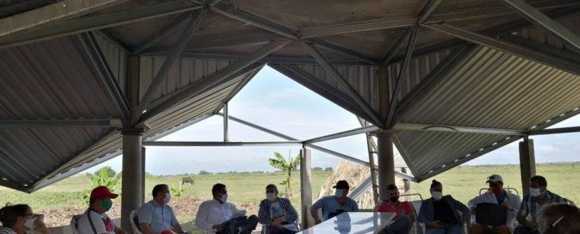 Productivo intercambio en finca de experiencia acompañada por la REP en Bayamo