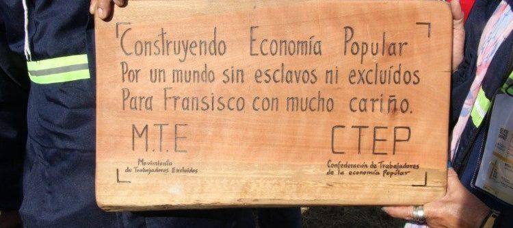 A propósito de la economía popular, carta de los movimientos populares al Papa Francisco